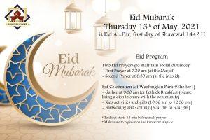 Eid Al-Fitr Prayer 2021 (1442 H)